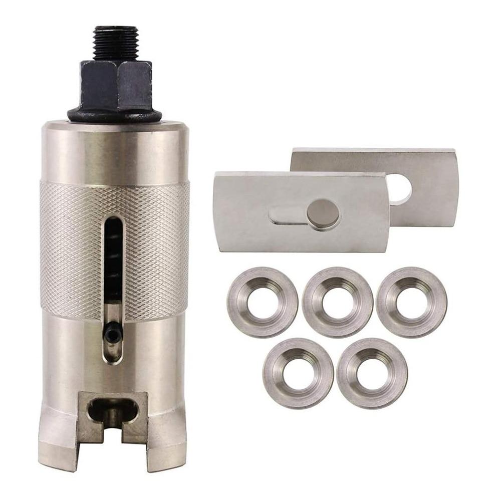 Professional Lock Core Puller Tool  with Pull Screws,Flange,Gasket,Lock Cylinder Puller Locksmith Cam Lock Bullet Puller Collet