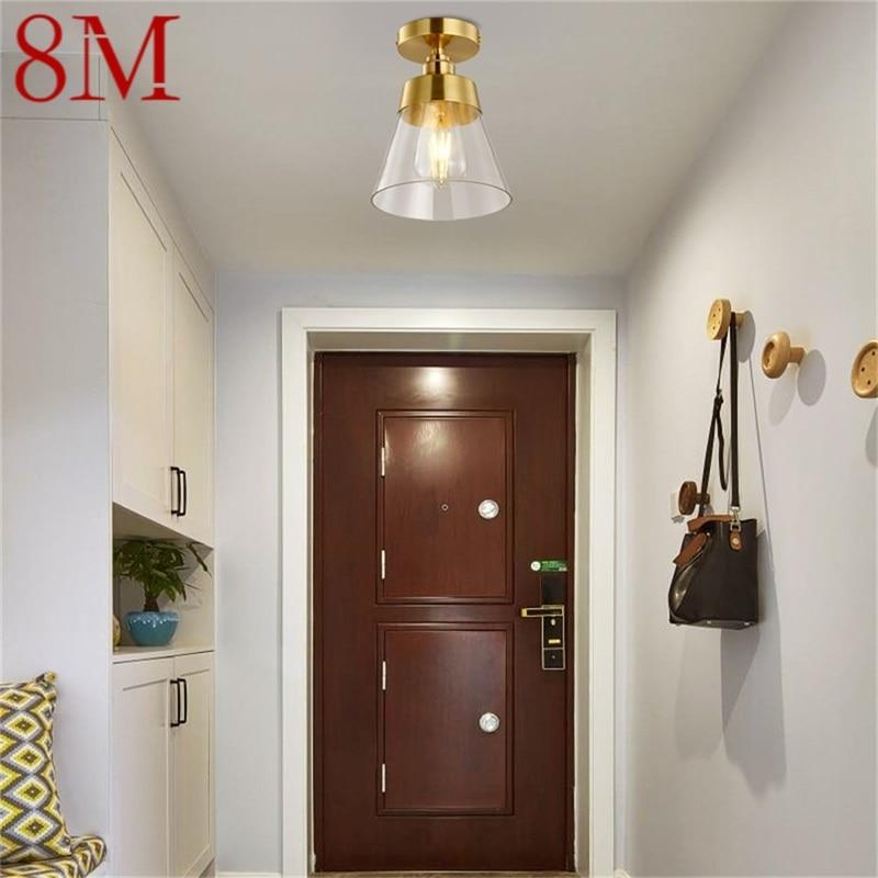 luzes de teto de cobre de 8m luzes criativas para corredor decoracao adequada para casa
