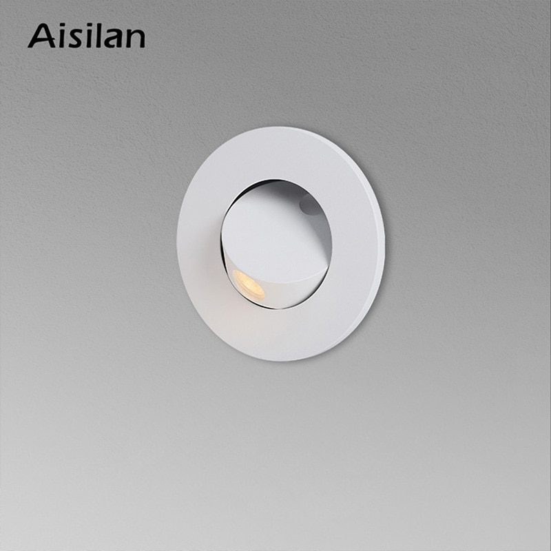 Aisilan LED الحد الأدنى 3 واط 8.2 سنتيمتر انقطاع راحة الجدار مصباح تدوير جزءا لا يتجزأ من القراءة الخفية الجدار ضوء غرفة نوم الممر درج