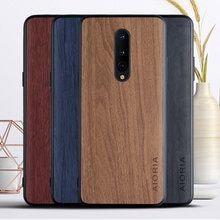 WoodLike case for Oneplus 8 soft TPU silicone material & wood PU leather skin covers coque fundas fo