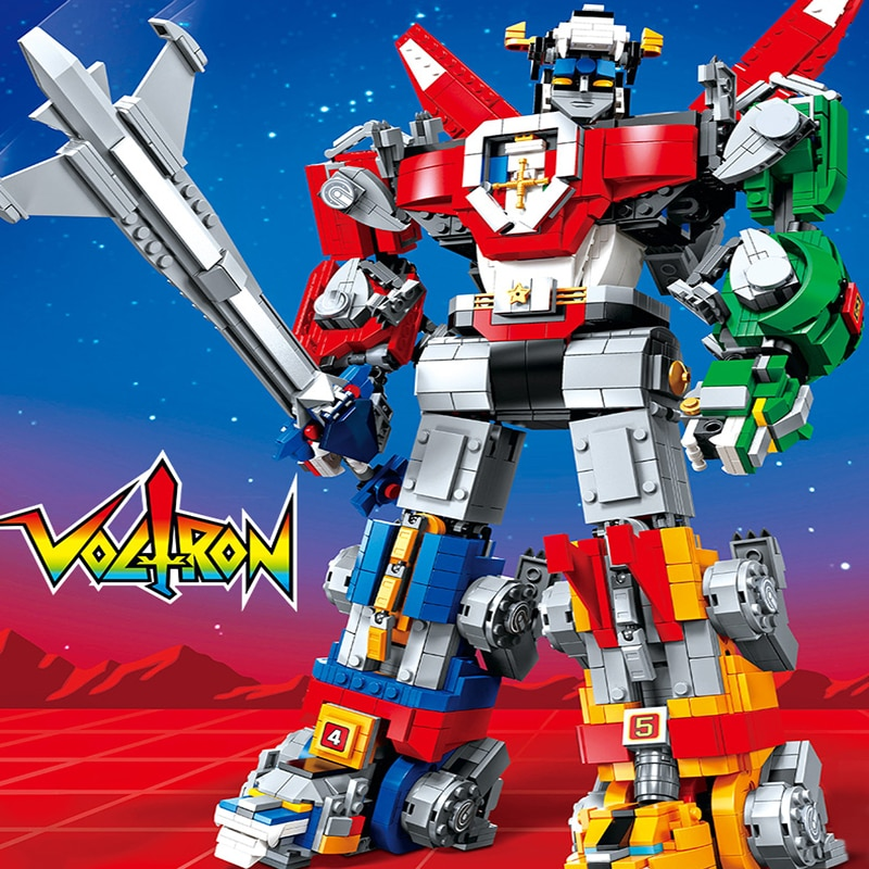 La serie creativa del defensor del universo Voltron es compatible con bloques de construcción 21311 16057 juguetes para niños regalos