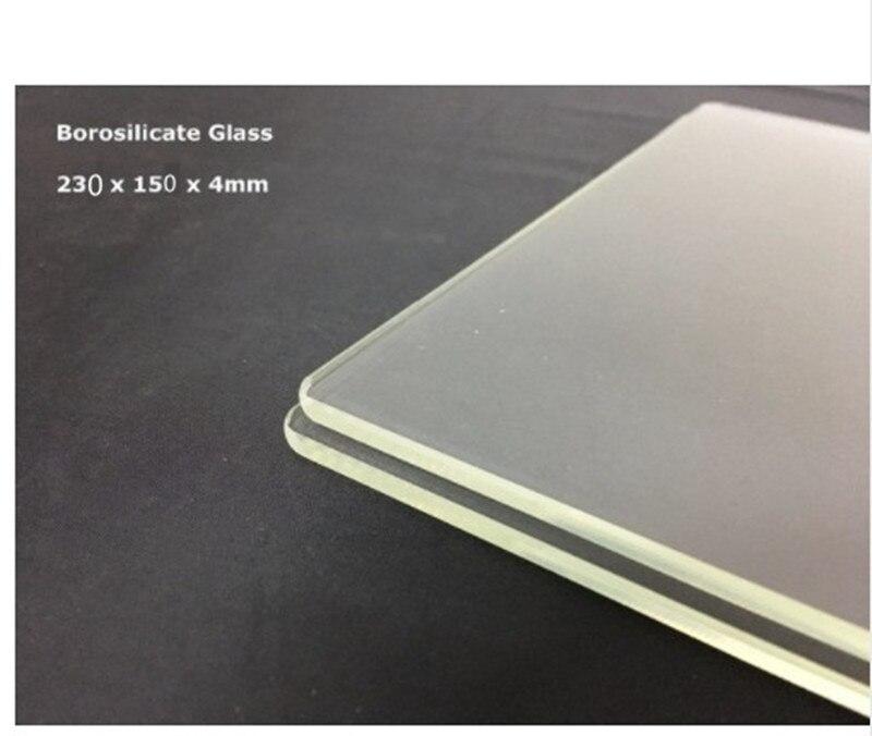 150x230x3mm Borosilikatglas Platte/Bett Flache für Flashforge Creator & Makerbot Replicator 3D Drucker
