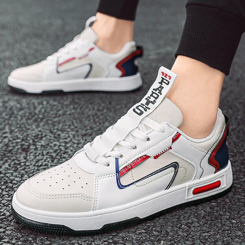 جديد العصرية ماركة الرجال أحذية رسمية النسخة الكورية من الاتجاه من بسيطة ، تنوعا ومريحة أحذية رياضية غير رسمية