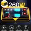Chargeur de batterie de voiture 12V 24V entièrement automatique moto électrique 400AH chargeur de batterie de voiture à faible bruit + adaptateur