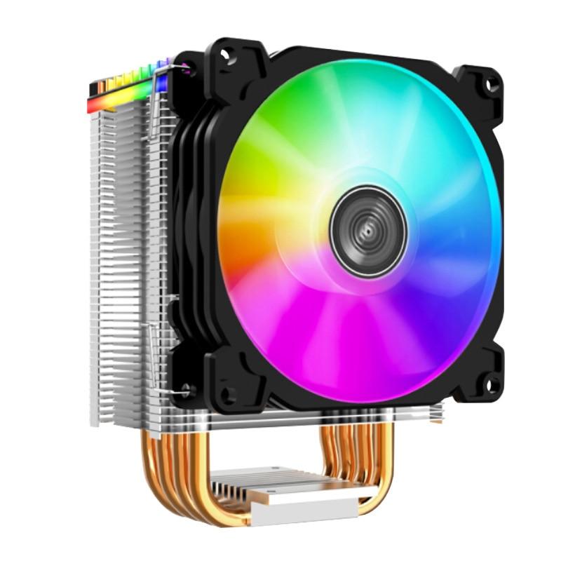 HOT-Jonsbo Cpu Cooler 92X92mm Argb Mini Fan 4 أنابيب حرارية لـ Lga775 1150 1151 1155 Am2 Am3 Am4 Fm2 Fm2