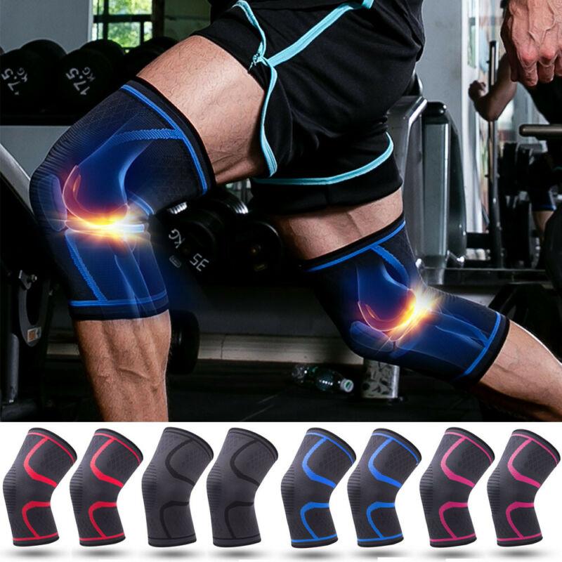 1 Uds. De compresión deportiva rodillera de apoyo Protector para la artritis dolor gimnasio Protector Casual elástico transpirable Unisex rodilla manga