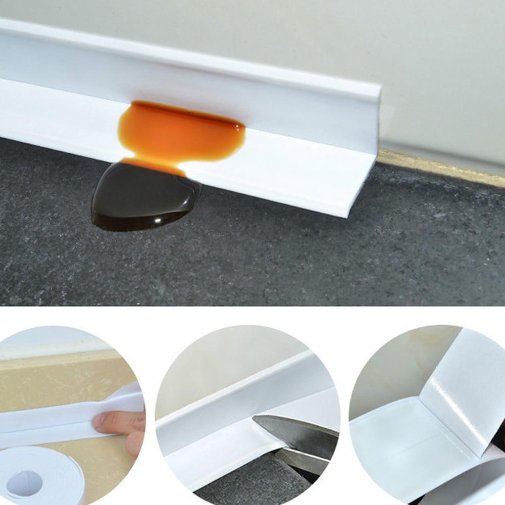 Adhesive Waterproof Tape Anti-moisture Bathroom PVC Wall Sticker Kitchen Ceramic Sealing Strip Home Decortaion