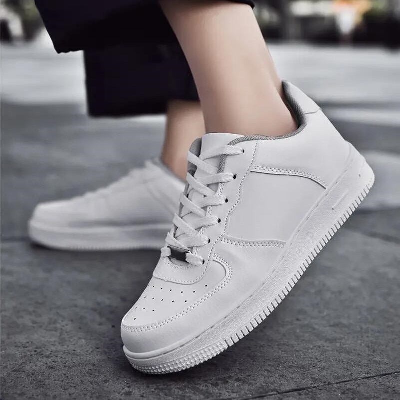2021 Sports Casual Sneakers for Men and Women Couples High-top Low-top All-match White Shoes