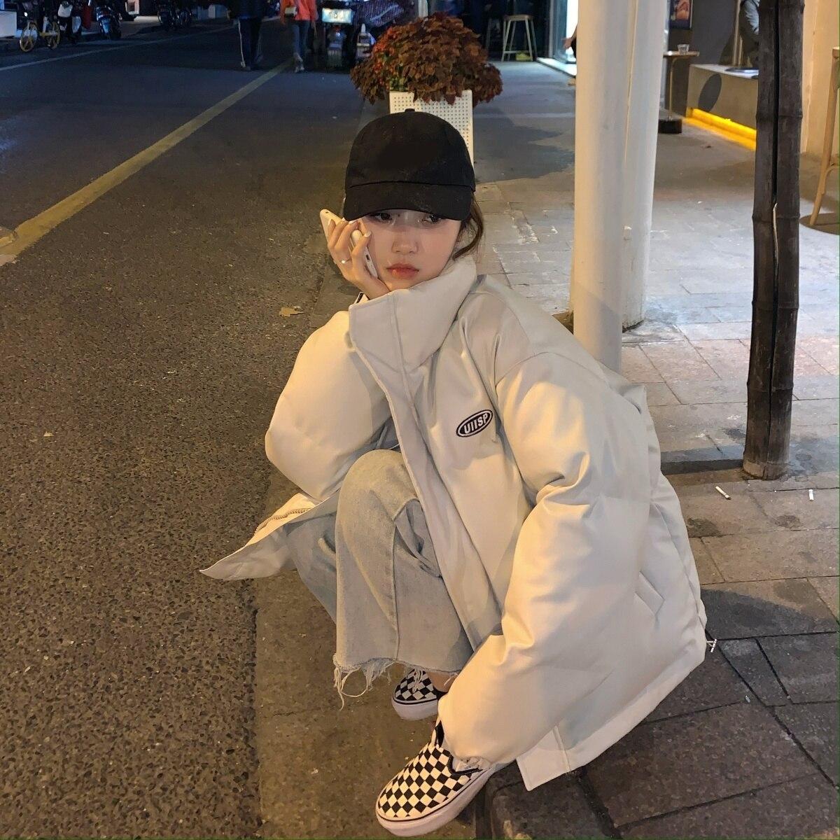 Down Parka Chic Jacket Skin Bread Down Cotton Padded Jacket Cotton Padded Jacket Women's Korean Vers