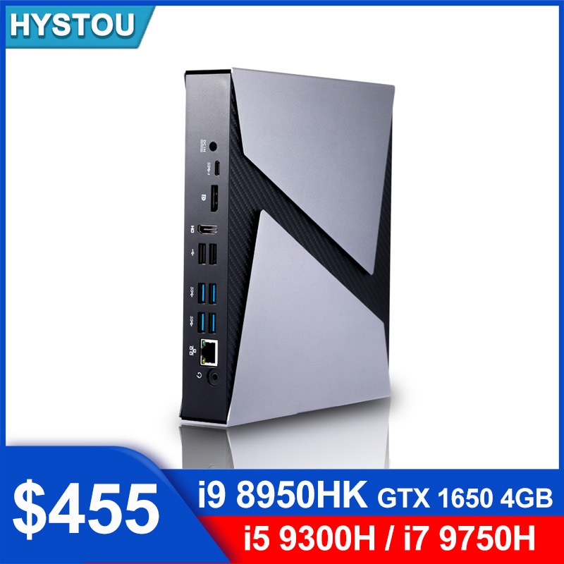 Мини игровой ПК NVIDIA GeForce GTX 4 Гб i9 8950HK, Intel core i9 9880H i7 9750H HD Двойная графика, 2 слота DDR4, BT4.0, компьютер с Windows