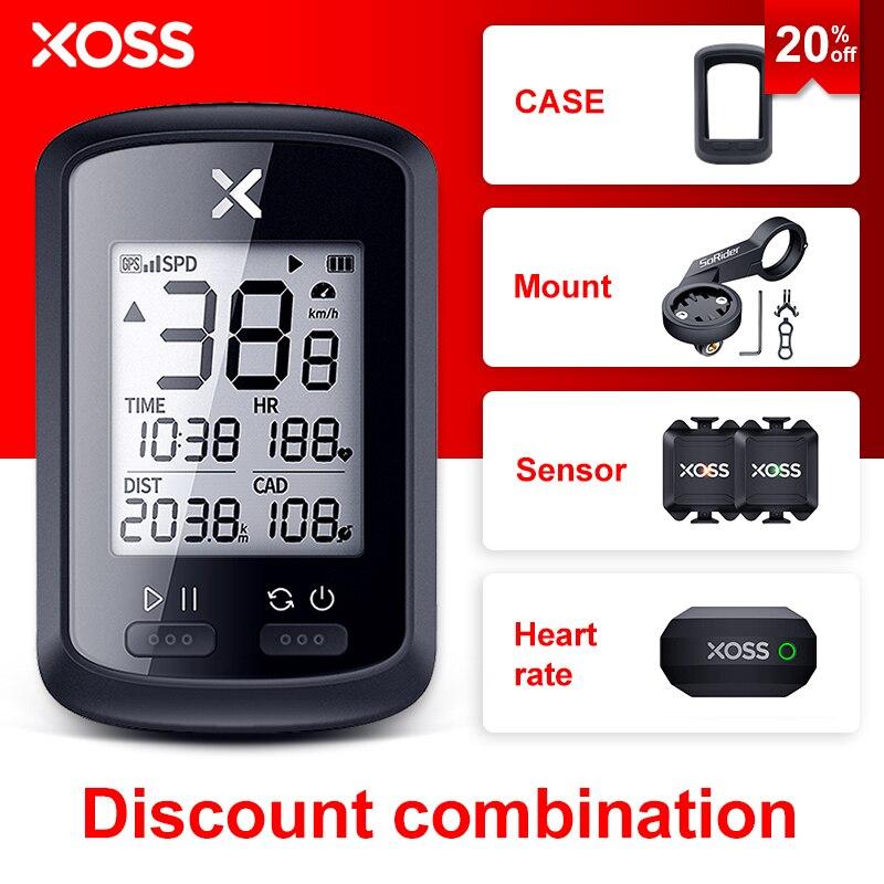 XOSS-ordenador para bicicleta G/G Plus, velocímetro de bicicleta inalámbrico con GPS, resistente al agua, odómetro para bicicleta de montaña y carretera