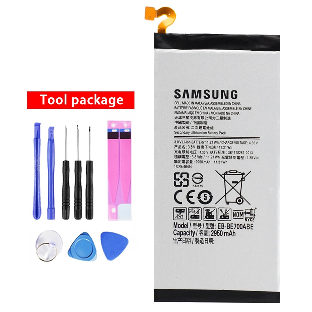 20pcs/lot Battery EB-BE700ABE For Samsung Galaxy E7 E7000 E700F Original Phone Replacement Bateria 2950mAh with Tools In Stock enlarge