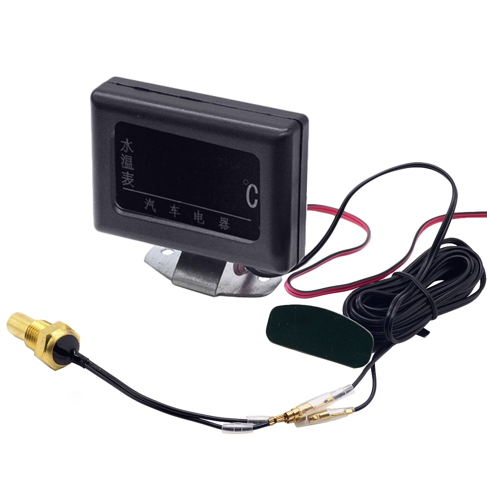 Универсальный цифровой датчик температуры воды, 12 В, 24 В, для автомобиля + штепсельная вилка с датчиком температуры воды, 10 мм, 12, 14 мм, 16 мм, 17 мм, 21 мм, 1 шт.