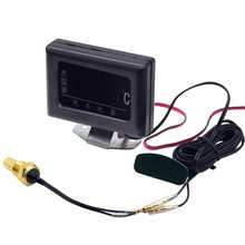 1PC 12V 24V Universal Digital Water Temperature Gauges for Car + Water Temperature Sensor Head Plug 10MM 12 14 MM 16MM 17MM 21MM