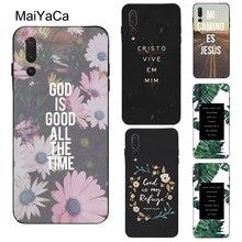 Biblia chrześcijański cytaty etui do telefonu Huawei Honor 10i 7A Pro 7C 8A 8C 8S 8X 9X 9 10 Lite 20 Pro Nova 5T Y6 Y9 Y7 2019