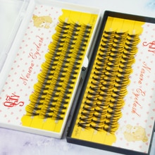 1 Set C 20/30D Beauty Women Girls False Eyelashes Wave Individual Eyelash Extension Mink Black Soft