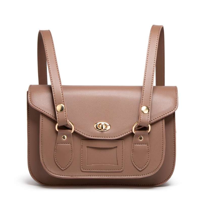 2021 Student shoulder bags Preppy Style Cambridge Satchel Elegant Trendy One-Shoulder Crossbody Retro Small Square Bag Backpack