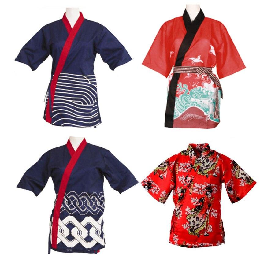 17 stil Japanischen Sushi Chef Uniformen für Erwachsene Restaurant Arbeit Tragen Küche Druck Kirsche Traditionelle Lebensmittel Service Kochen Catering