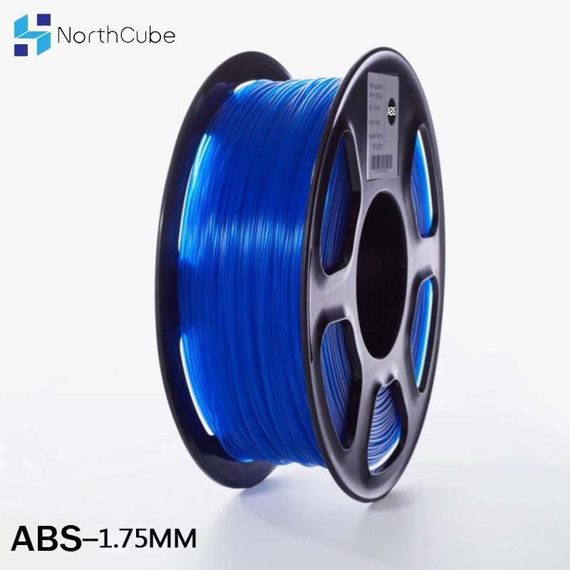 Filamento de impresora 3D de filamento ABS de 1,75mm 1kg materiales de impresión de plástico 3D filamento transparente de Color azul