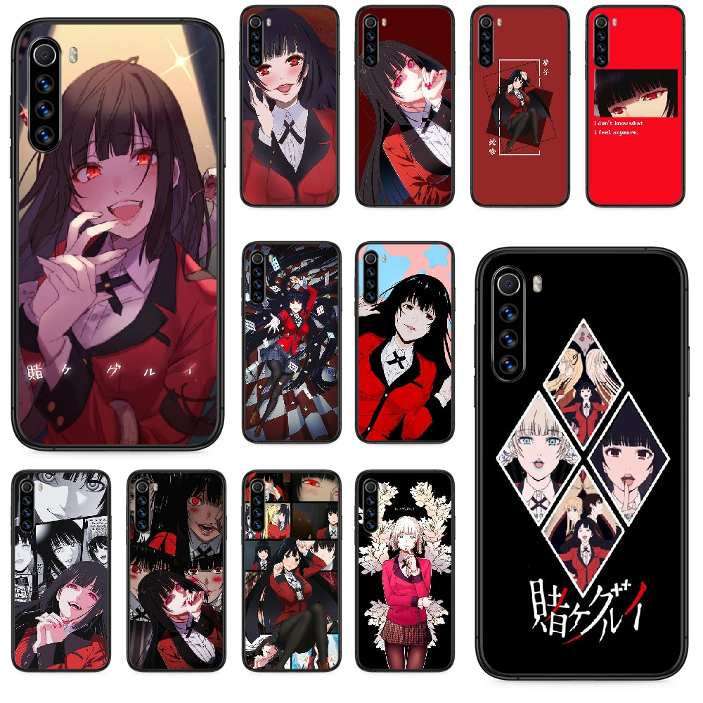 Anime Kakegurui Jabami Yumeko Phone case For Xiaomi Redmi Note 4A 4X 5 6 6A 7 7A 8 8A 4 5 5A 8T Plus