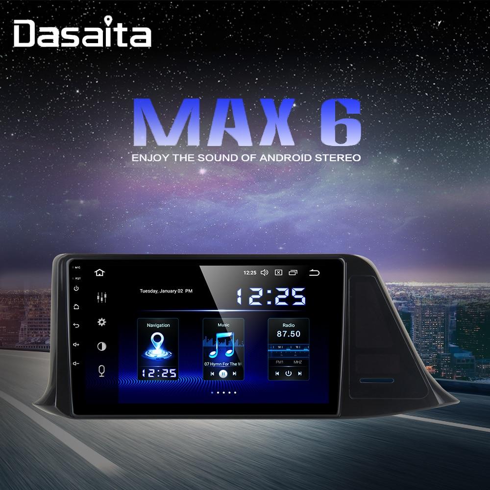 "1 din Android 9,0 coche Radio para Toyota C-HR CHR 2016 2017 2018 GPS estéreo de coche 9 ""pantalla IPS 64GB ROM"