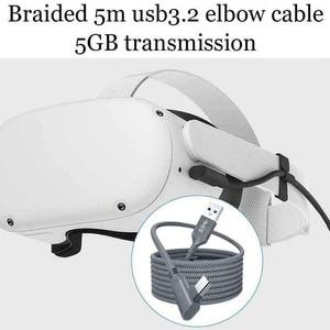 Image 1 - 5 м линия передачи данных для Oculus Quest 2 подключения гарнитуры USB 3,0 Тип C для зарядки и синхронизации данных кабель передачи Тип с разъемами типа C и USB A Шнур Очки виртуальной реальности VR аксессуары
