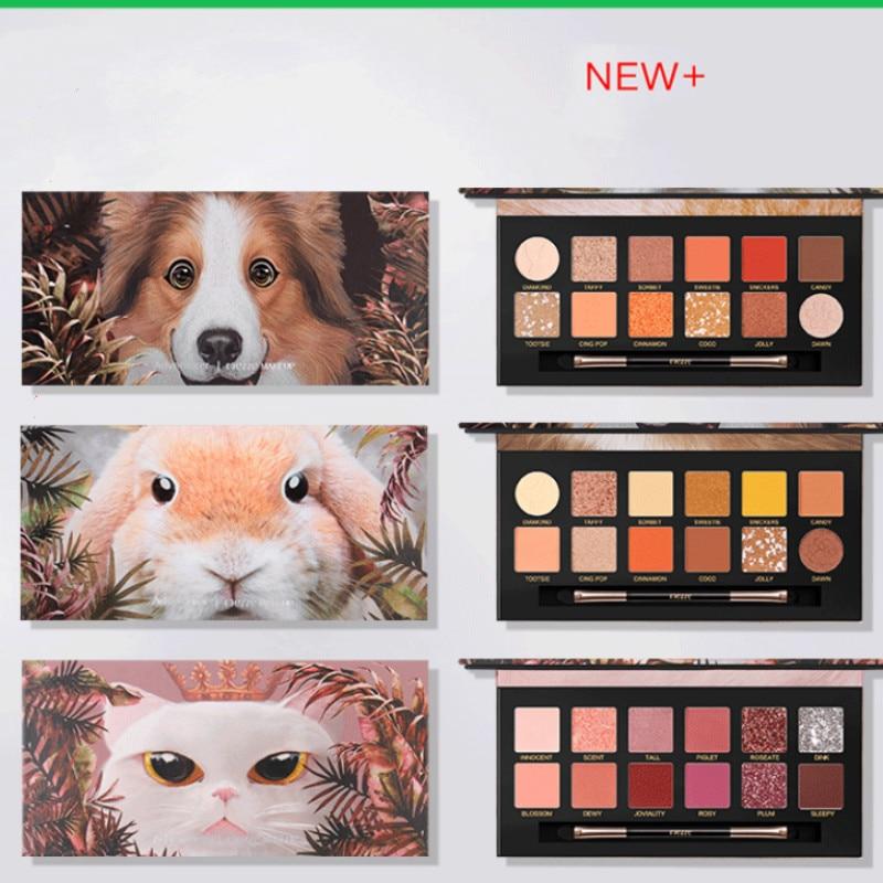 12 Color Pigment Eyeshadow Make Up Animal Palette Matte Shimmer Glitter Charming Powder Eye Shadow Pallete Eye Makeup Focallure