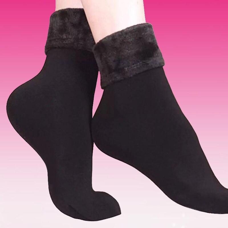 10Pair/lot Winter Warm Socks Women Soft Cashmere Wool thermal Socks Ladies Velvet Boots Floor Snow Socks