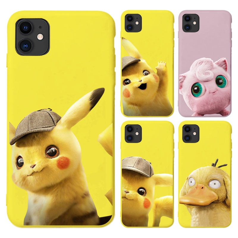 Bolsillo monstruos Pokemons Pikachus suave funda de teléfono para iphone 6 6S 7 8 plus X XR XSmax de dibujos animados para iphone 11 Pro Max SE2020