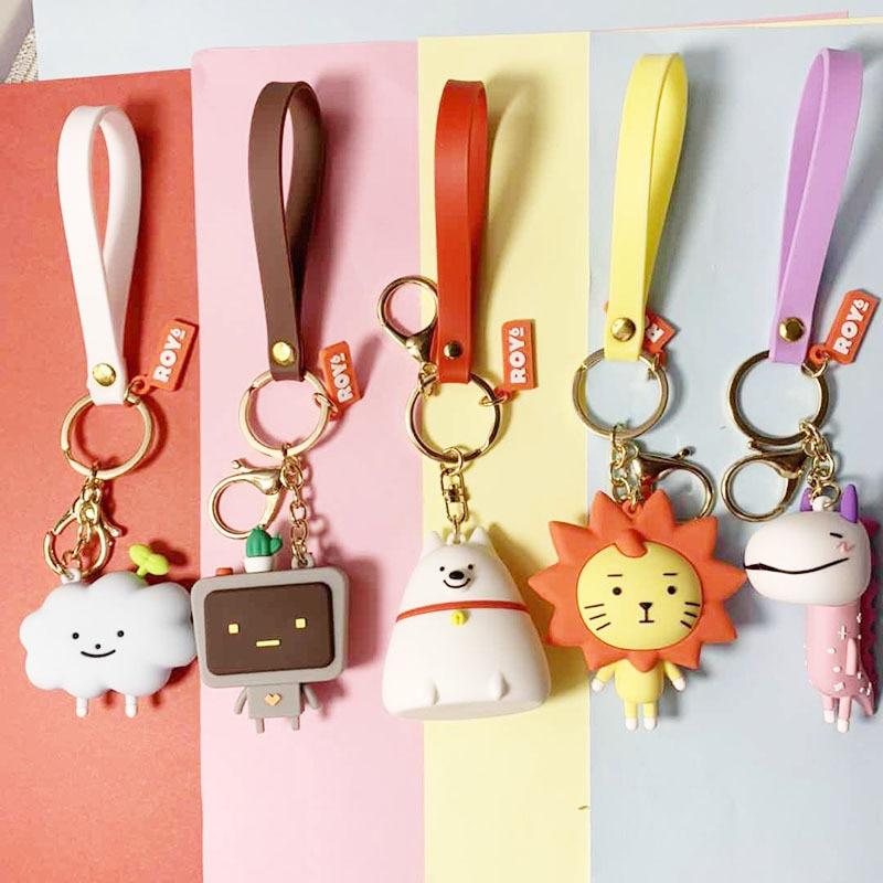 High Quality 2020 New Cute Cartoon Bear Key Chain Gifts For Women Girls Bag Pendant Epoxy PVC Figure Charms Keychains Jewelry
