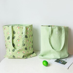 Women Canvas Shopping Bag Flower Print Female Cotton Cloth Shoulder Bag Eco Handbag Tote Reusable Grocery Shopper Storage bag