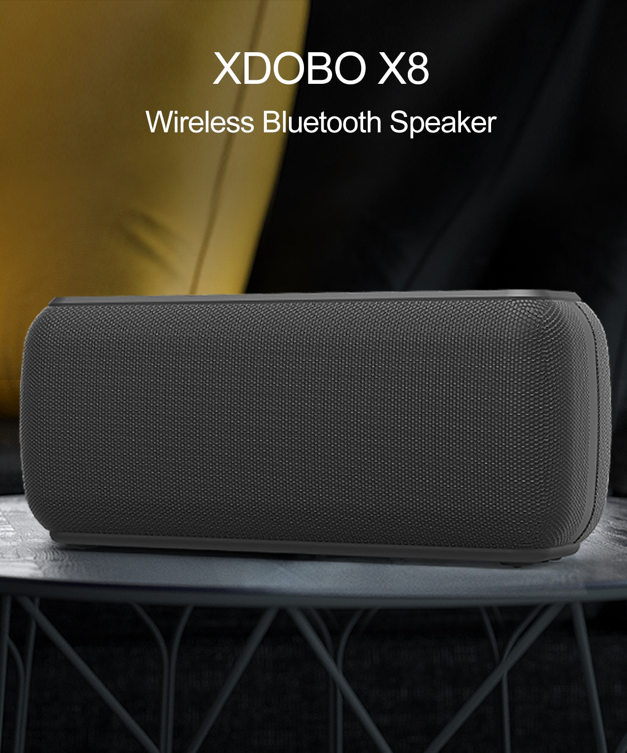 X8 60W Wireless Bluetooth Speaker Portable Portable Subwoofer Waterproof Deep Bass Column TWS Stereo Boombox Support TF Card AUX enlarge