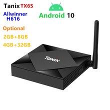 2020 Android 10.0 OS Smart TV-box original Tanix TX6S H616 2GB 8GB 2.4g/5G WIFI BT décodeur avec Alice UX prise en charge à distance vocale