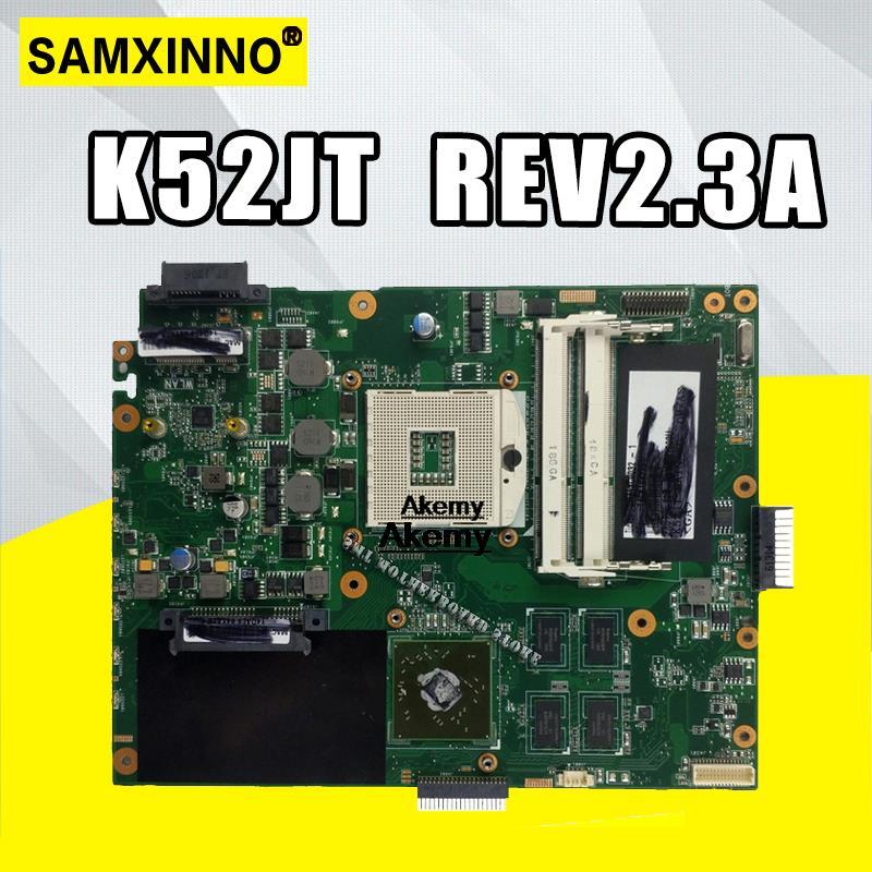 K52JT اللوحة الفقرة For Asus K52JU K52J A52J K52JR K52 K52JE X52J كمبيوتر محمول اللوحة اللوحة REV2.3A HD6370 1GB