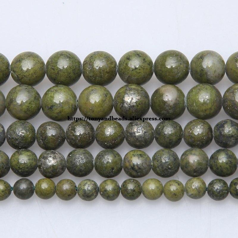 "Free Shipping Natural Stone Green Lapis Lazuli Round Beads 15"" Strand 6 8 10 MM Pick Size For Jewelry Making"
