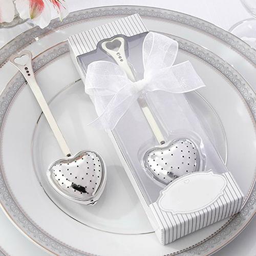 Heart Design Spoon Tea Infuser Filter Wedding Souvenir Bridal Shower Favor Gift