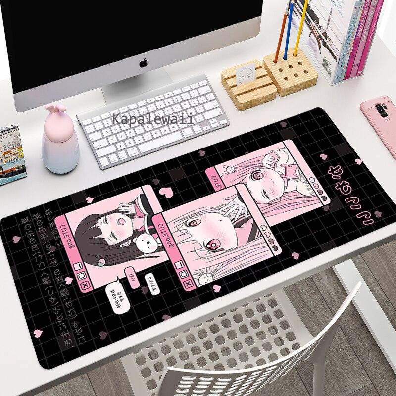 Большой коврик для мыши Kawaii коврик для мыши ПК геймерский Коврик Для Мыши Компьютерный коврик для мыши милый игровой коврик для клавиатуры ...