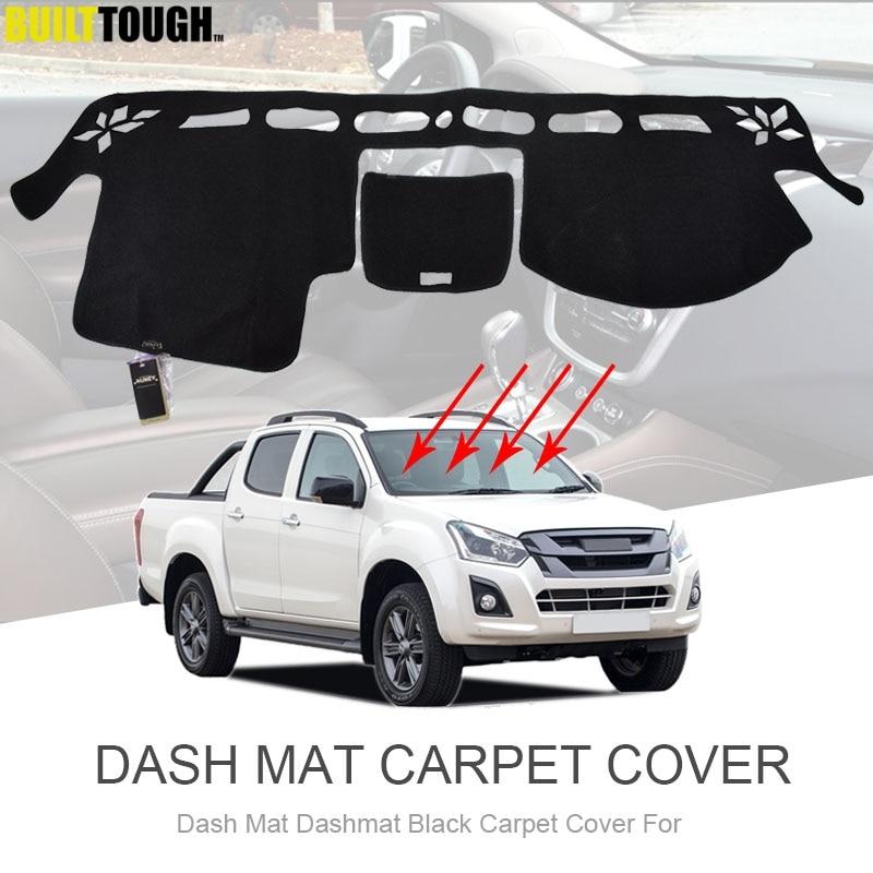 Xukey para Isuzu d-max Dmax MU-X MUX 2013-2019 Holden Colorado 7 2012-2016 Dashmat cubierta de salpicadero, Alfombra de sombra