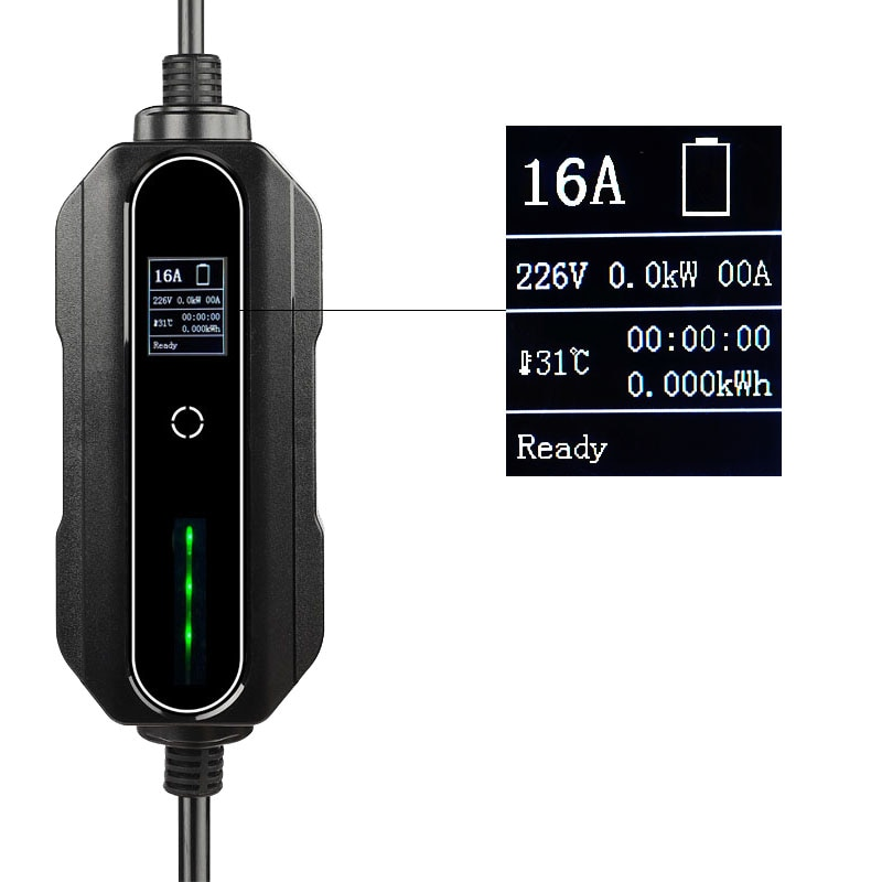 Mobile EV Charger Wallbox 32A Fast EV Charger IEC62196 Type 2 CEE 3 Pins Electric Car Charger EVSE Cargador Auto Electrico enlarge