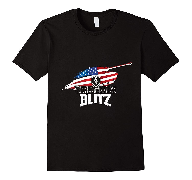 Mundo dos tanques blitz herói americano camiseta marca de algodão roupas masculinas magro ajuste t camisa camisas para homem cinco cores