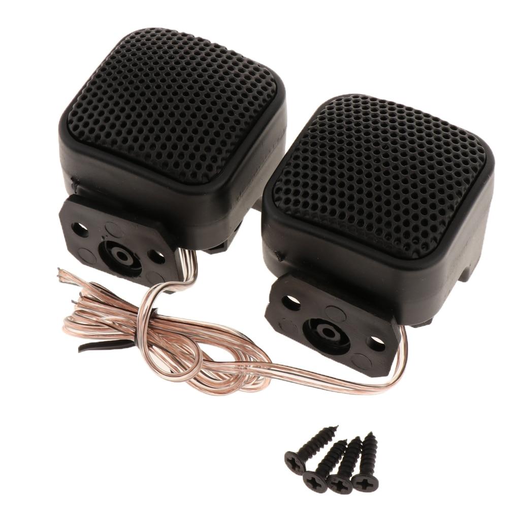 2 Pcs 500W Car Mini Tweeter Speakers Auto Horn Audio Music Stereo Speaker Audio Loudspeaker 12V DC F