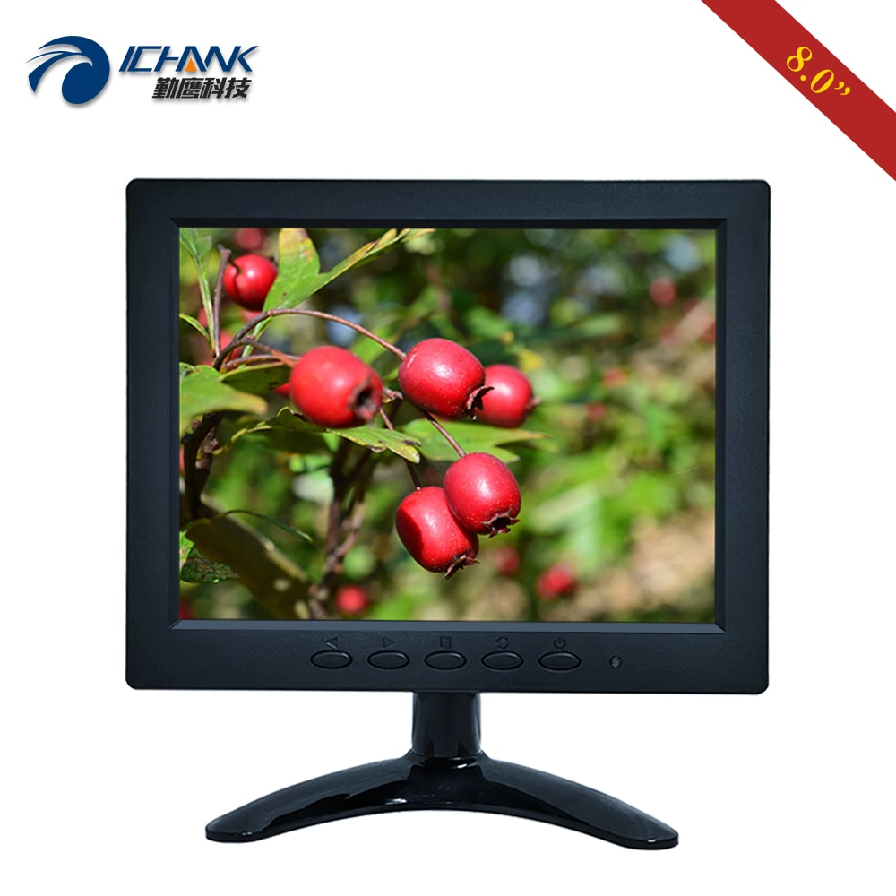 "ZB080JN-7051/8 ""polegada 800x600 43 portátil mini av bnc vga sinal microscópio médico industrial pequeno monitor de tela lcd"