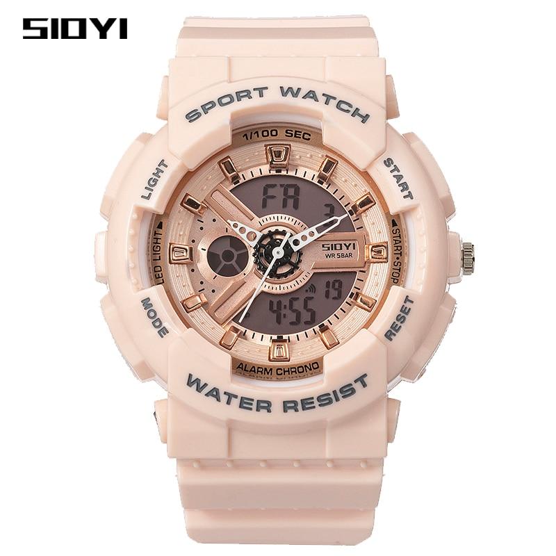 SIOYI Clock Fashion Digital Watch children Shockproof Waterproof Dual Wristwatches LED Chrono Alarm Clock childer Watches Cool