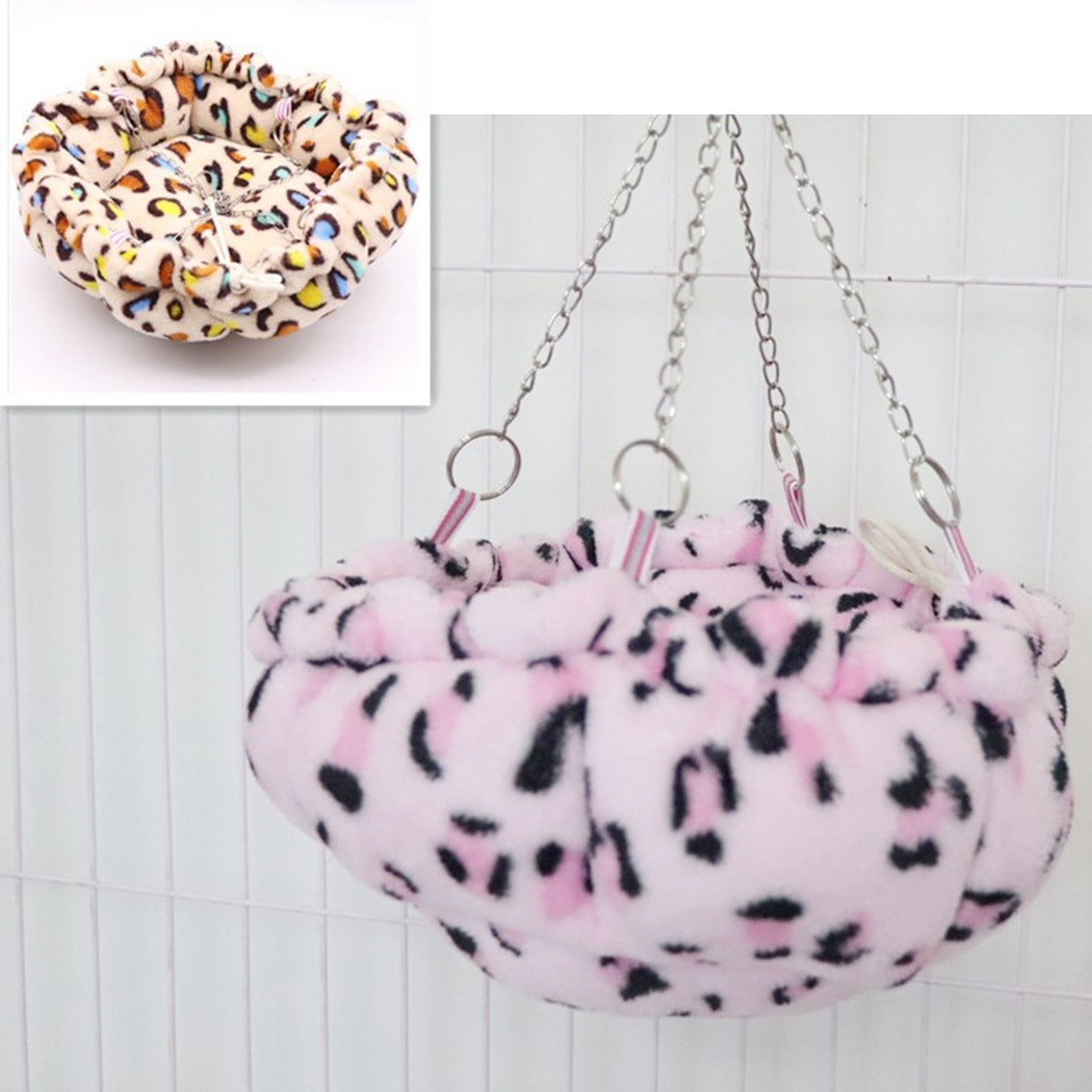 Pet Hammock Soft Warm Plush Hanging Nest Sleeping Bed for Pets Hamster Squirrel Chinchilla House Creative Hanging Nest Supplies