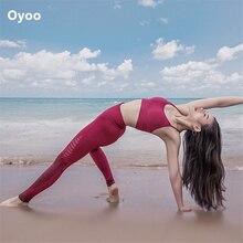 Oyoo ensemble de Yoga sans couture vêtements de Fitness tenue dentraînement ensemble de Leggings de gymnastique femmes rouge rembourré sport soutien-gorge haut 2 pièces costume de sport femmes
