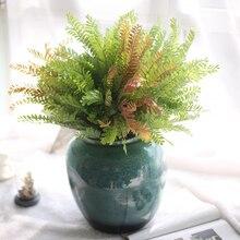 Verde artificial planta Salvia simula Pared de escritorio falso planta con hojas para casa jardín decoración simulación falso flor 4
