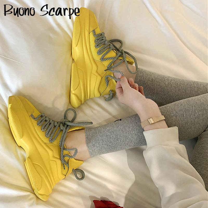 Laço-up mulher tênis plataforma plana sapatos femininos dedo do pé redondo respirável tênis de malha antiderrapante casual mulher sapatos brancos menina apartamentos