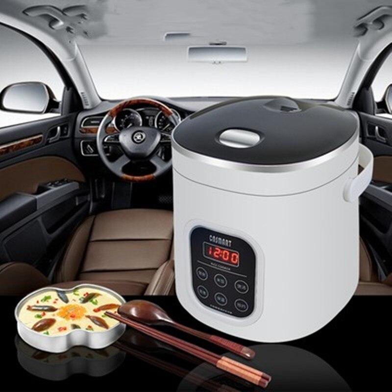 Novo 1.6l mini fogão de arroz carro fogão elétrico portátil para uso doméstico 220 v ou carro 12 v caminhão 24 v multifuncional panela arroz