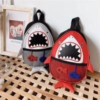 waist bags for kids girl chest bag cartoon child chest bags high capacity little shark 3d pack canvas crossbody bags for kids