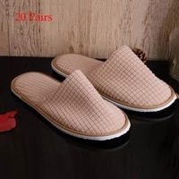 20 pair kids adult stars hotel travel spa mens disposable slippers home receive guest slippers shoes disposable hotel slippers